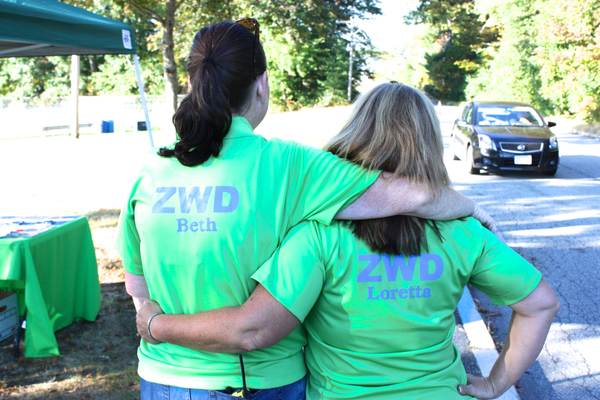 Volunteers were kept very busy during last weekend's 6th Annual Zero Waste Day in Tewksbury.