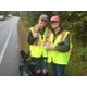 Shawsheen Tech students Kathleen Silk (left) and Ryleigh Hoffmann, work to clean up Shawsheen Street as part of Tewksbury's Fall Town Clean Up Day.