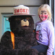 Madyson Voss of Bellingham, age 6, poses with Smokey Bear.