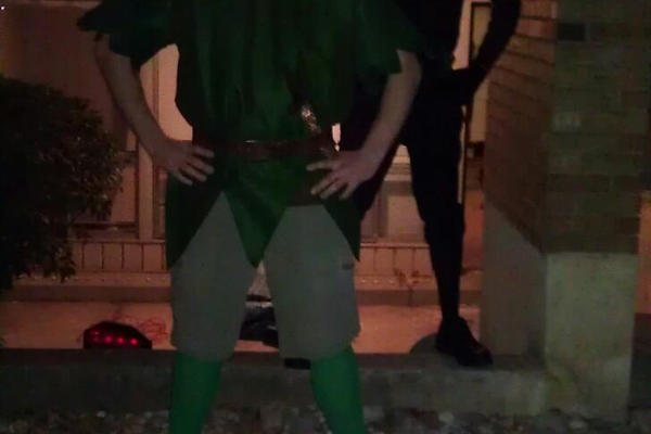 Peter and Nate, as Peter Pan and Pan's Shadow! Submitted by Nate Billings.