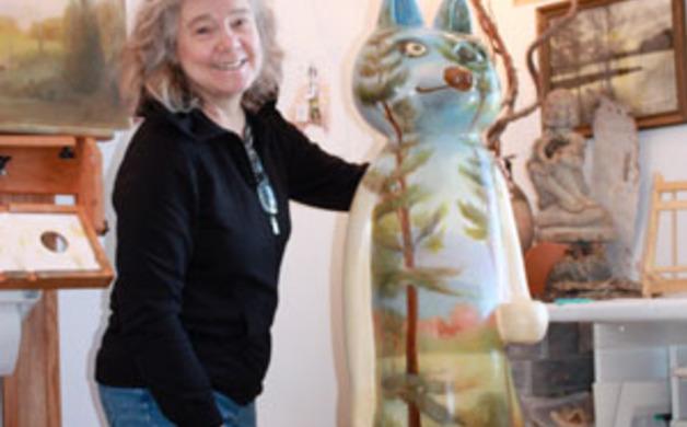 Fiberglass Wolf Sculpture
