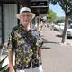 Jack Severs' taking his daily stroll along Avenida del Mar.