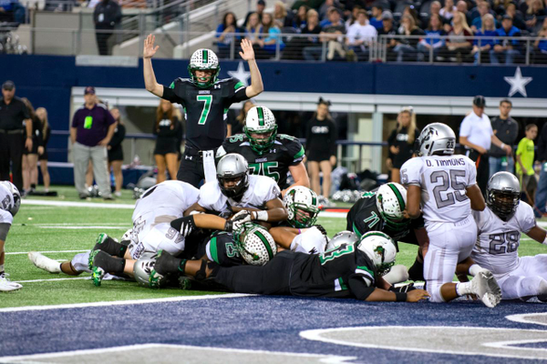 Led by impressive offensive performances by Ryan Agnew and Lil' Jordan Humphrey the Dragons dominated Denton Guyer in second round action. Photo by K. Campos