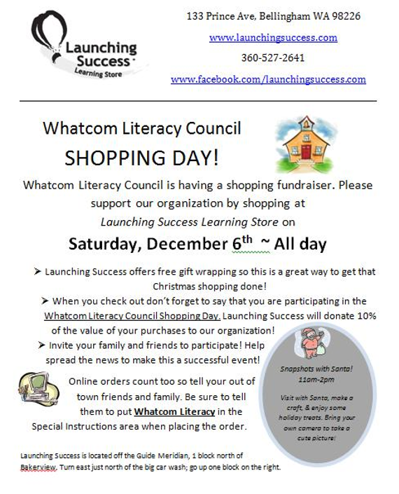 Whatcom 20literacy 20shopping 20day