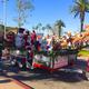 The Soroptomist International float carrying Santa and friends