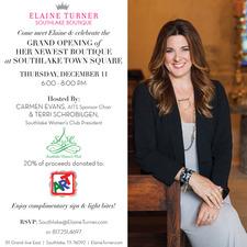 Elaine Turner Southlake Opening Celebration Cocktail Party  - start Dec 11 2014 0600PM