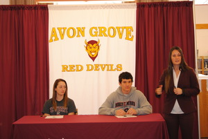 Avon Groves Perkins and Cyron sign to play Division 1 sports - 12022014 0241PM