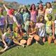 "SOS Service Club during a ""Color War."""