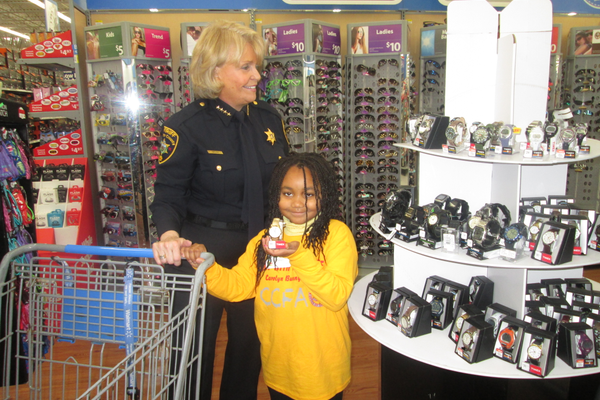 Sheriff Carolyn Bunny Welch helped organize the 'Shop With the Sheriff' event on Saturday.