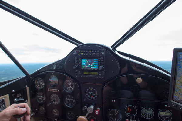 The cockpit of a restored 1946 Fairchild 24