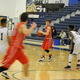 Nate Tenaglia (4) finds Joe Coskmay (35) cutting to the basket.
