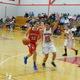 Emily Velozo (10) controls the ball against Tyngsboro.