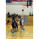 Kirsten Dick (5) scores a fourth quarter basket against Lawrence.
