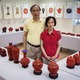 Courtesy photo Exhibits showcase Chinese handicrafts and artwork.