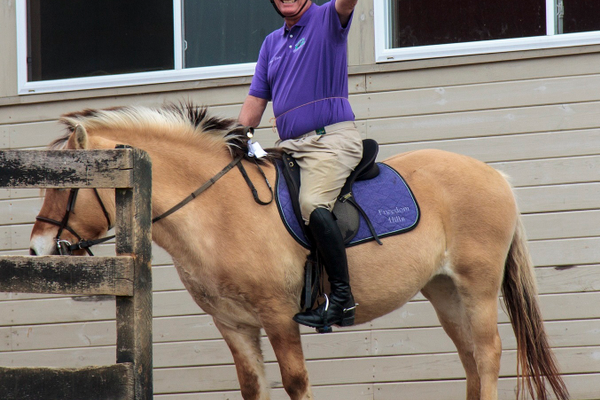 Courtesy photo Mike Porter and his daughter, Annie, started riding at Freedom Hills in April of 2005.
