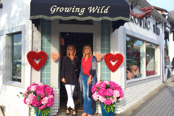 Lee Hoven Bakos and Lisa Hoven Gallien outside Growing Wild in Manhattan Beach.