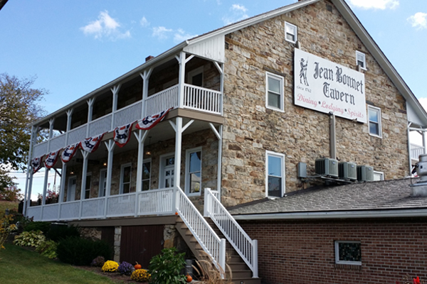 The Jean Bonnet Tavern was built in the 1760s, and is on the National Register of Historic Places.