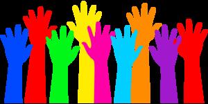 Medium hands colorful