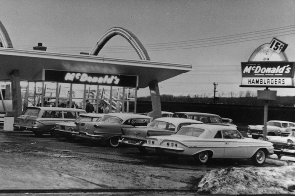 The original McDonald's location on East Main Street really did have golden arches.