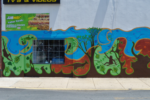Courtesy photo Leathrum enjoys doing murals like this one in Newark.