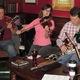Dave Zgleszewski, Alyce Graham and Dan McHugh perform a traditional tune.