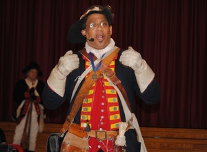 Noah Lewis is a living history re-enactor who portrays Ned Hector a black Revolutionary War hero