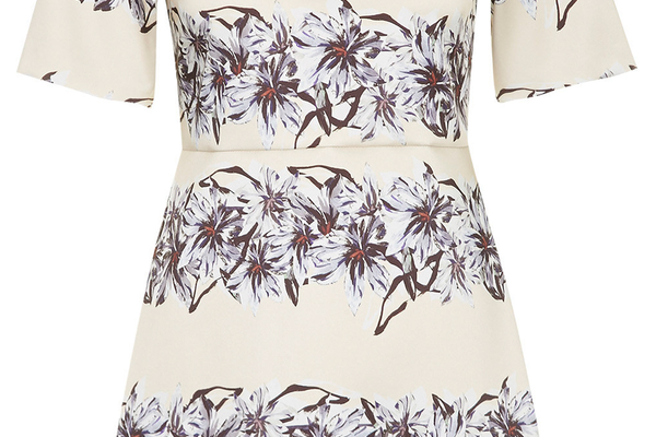 Flower Satin A-Line Dress by Topshop - $135