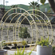 Curved Trellis with benches.