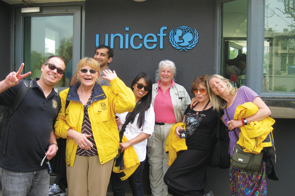 Part of the team at Unicef.
