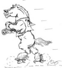 Medium mounted patrol logo