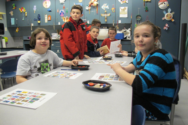 North Street students play Book Bingo during North Street Night at the TPL.