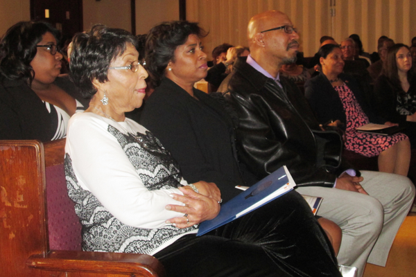 The Woodson family was in the front row for the ceremony.