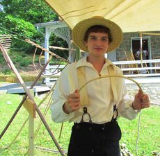 Find David Witmer making a rake by hand at the Dale House on July 11  He will be among more than 40 other demonstrators at work during the day-long 10am to 5 pm Rural Heritage Day David is completing his sophomore year at Warrior Run High School  His primary school interest is science and his hobby is reading when he is not busy working on a hand carved rake   He enjoys a feeling of satisfaction when he completes one  And he likes to demonstrate his skill because he can see the interest of others develop as he explains the steps to making a rake    Photo by Pat Longley