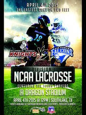 NCAA DIVISION 1 LACROSSE GAME - start Apr 04 2015 1200PM