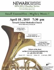 Newark Symphony Chamber Concert - start Apr 18 2015 0730PM