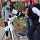 Sun Spotting!, student Daniel Joyner looks at sun through telescope