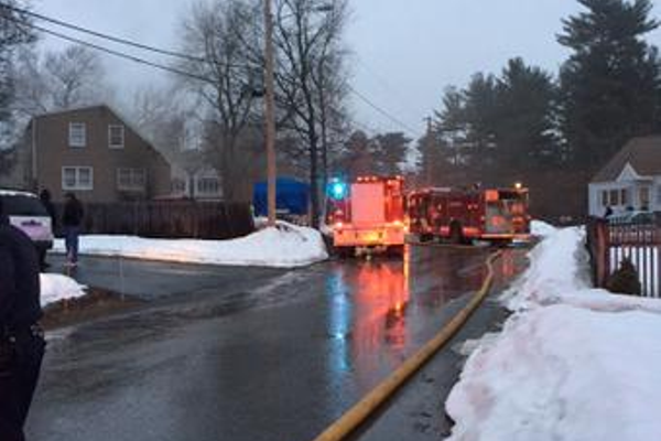 A two-alarm fire damaged a home at 24 Sullivan Parkway. Photo by Rich MacDonald.
