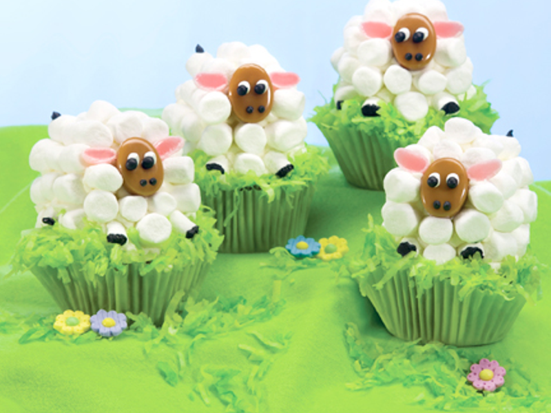 Family Features Little Ones And Big Too Will Have Fun Making These Adorable Easter Lamb Carrot Cupcakes Is A Special Time For Bringing