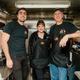 Rick Austin, Nancy Affatato and Dan Moran stand inside the Jersey Devil Barbecue truck. (Photo by Suzette J. Lucas)