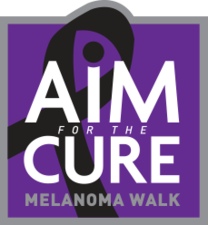 Medium aim for the cure logo