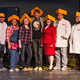 Cast members include from left to right:  Trevor Kastein, Joelle Lillge, Christina Miller, Nate Scheuers, Meg Scullin, Rick Ramirez and Chris Connolly