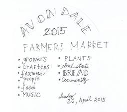 Avondale Farmers Market  Open House - start Apr 26 2015 1100AM