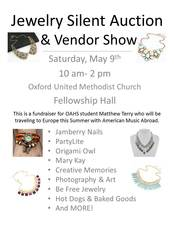 Jewelry Silent Auction  Vendor Fair - start May 09 2015 1000AM