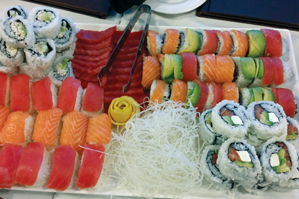 Sushi is served every other Wednesday night at the 1863 Grill.