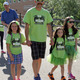 Morgan, Taylor and Avery walk with their father, Brandon Spry