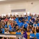MBMS students cheer for their friends at the MBMS Scholar Quiz