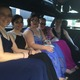 TMHS Seniors Emma Hyberts, Rachel Santosuosso, Valerie Fischer, Kate Roche and Stephanie Dardonis head to the prom in style.