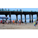 Runners, including winner Jacob Helfgott, begin the Manhattan Beach 5K. Photo by Chris Miller.