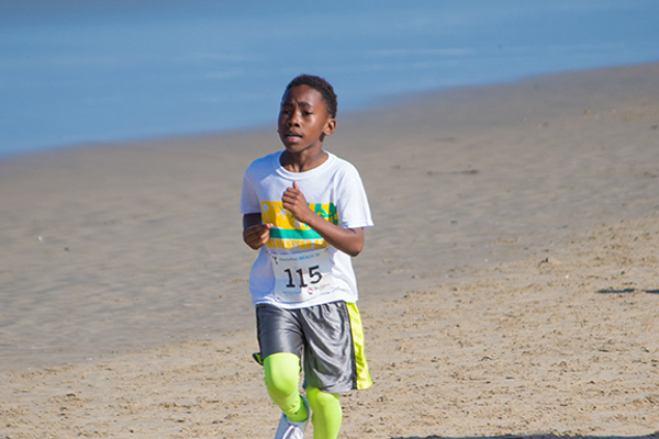 Noah Enoch, 8, ran both the 5K and Kids 1K.