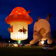 Photo by Jeff Kahan  Several balloons were featured in an evening glow as part of this years Chester County Balloon Festival held at the New Garden Flying Field in Toughkenamon